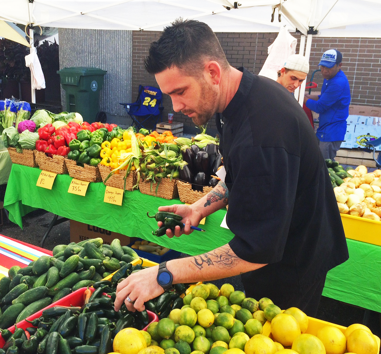Chef Gerard Jesse of Seafood Shack at Bradenton Farmers' Market 2016